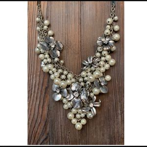 Adena Accents Flower and Pearl Necklace